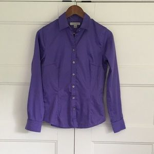Banana Republic Non Iron Tailored Shirt Purple